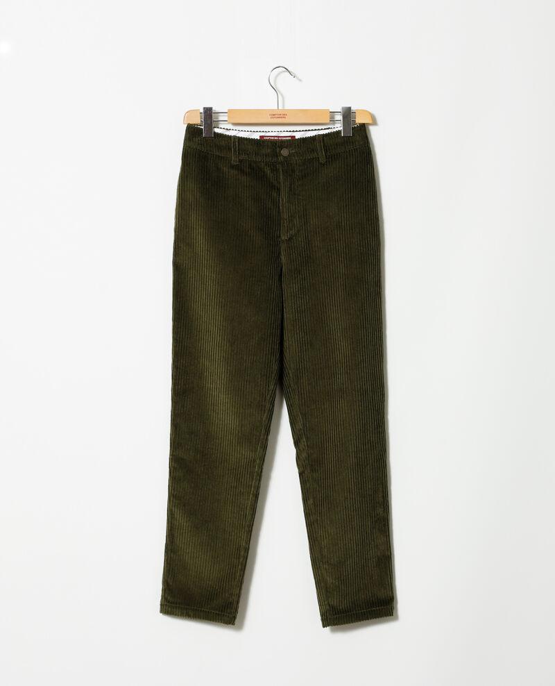 Pantalón de pana gruesa Olive night Ganasso