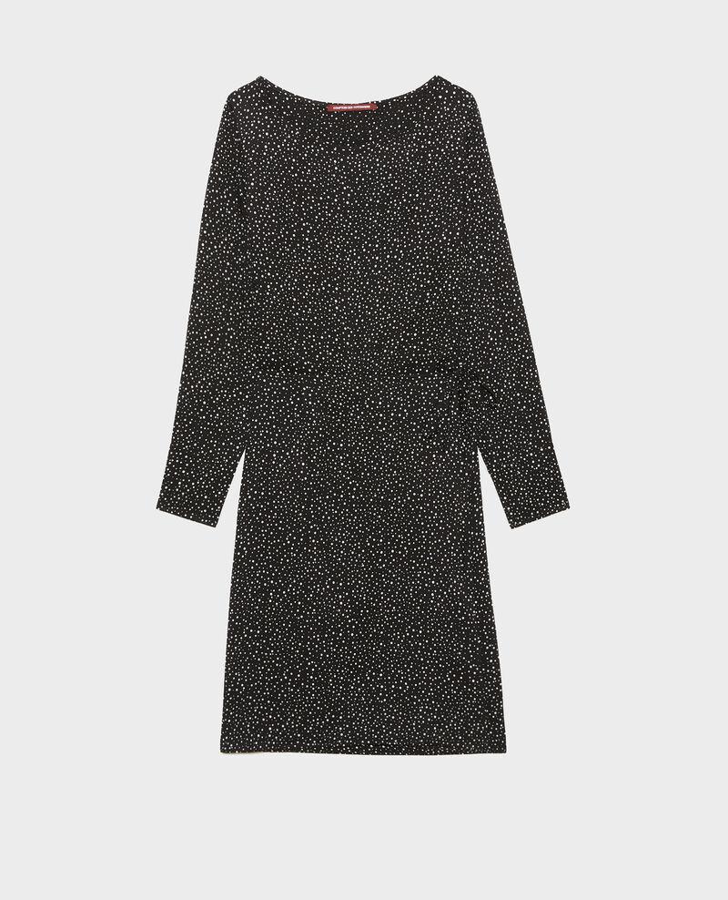 Vestido corto cruzado Print constellation black Meussia