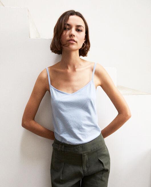 Camiseta con tirantes finos LIGHT BLUE