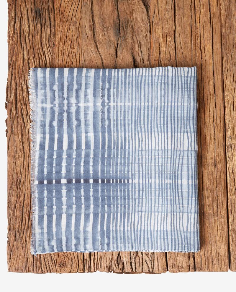 Fular estampado Tie&dye washed blue Fye