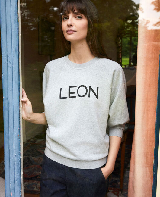 Sudadera LEON HEATHER GREY
