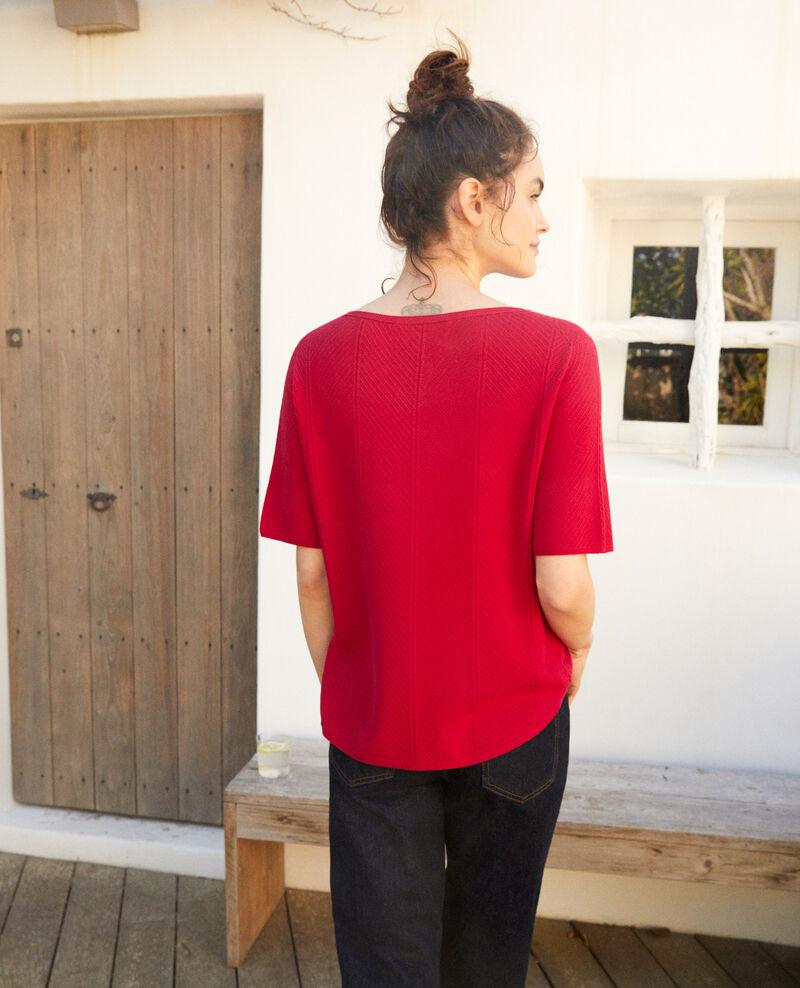 Jersey de algodón 3D Fushia Irankana