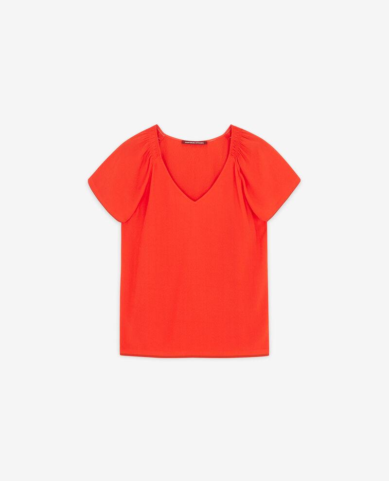 Blusa fluida Orange red Deal