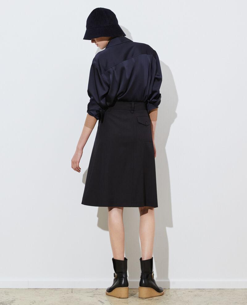 Falda cruzada de lana Black beauty Padarac