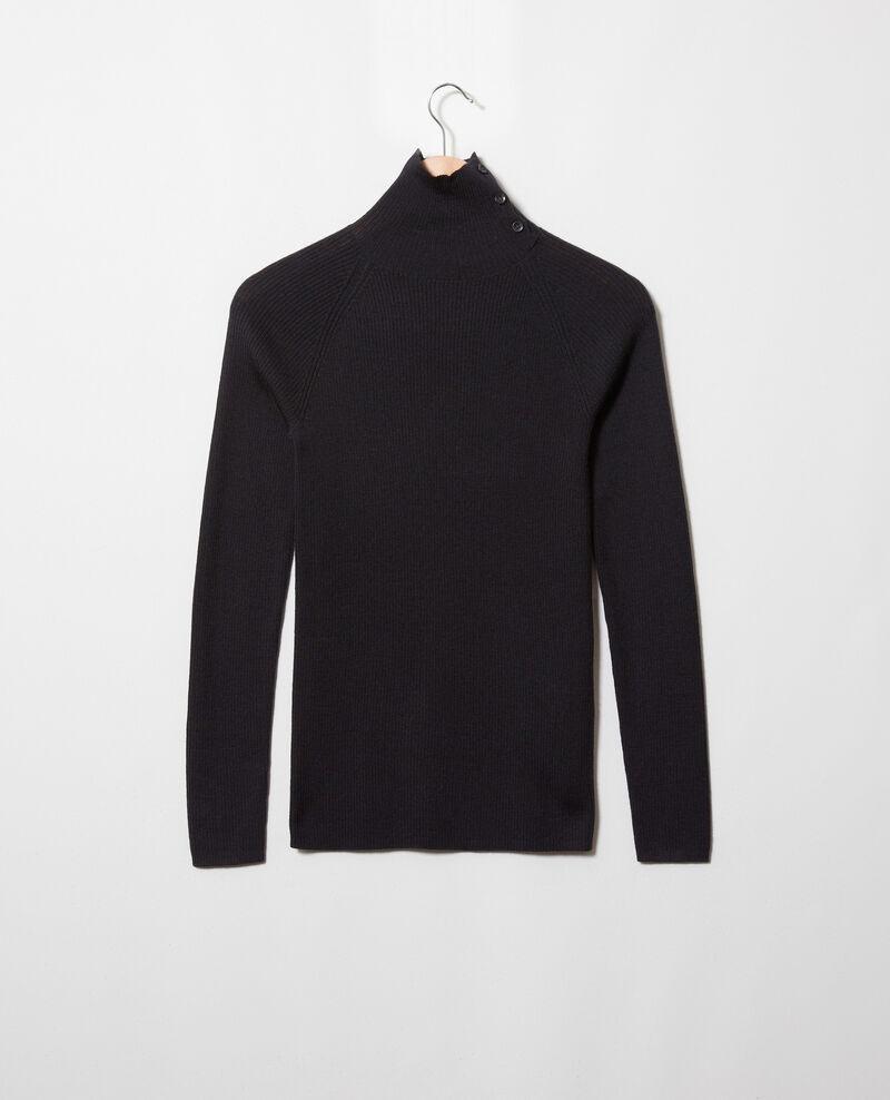 Jersey con botones en el cuello Noir Jemo