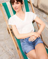 Camiseta con cuello de pico Off white Ifallena