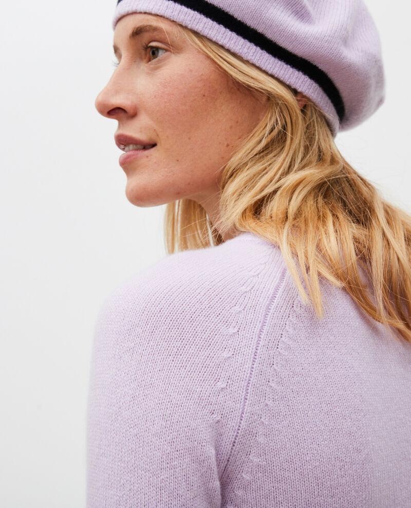 Jersey de cachemir con mangas abullonadas Pastel lilac Migny