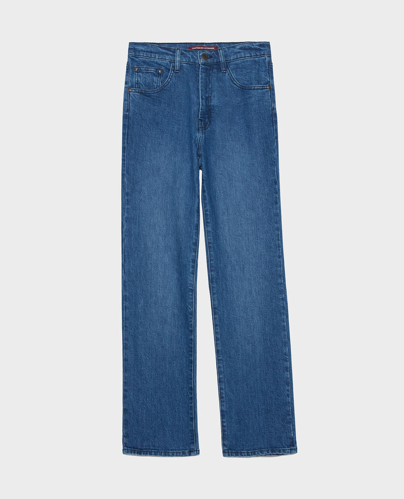 SLIM STRAIGHT - Jeans rectos en denim desteñido Denim medium wash Linneou