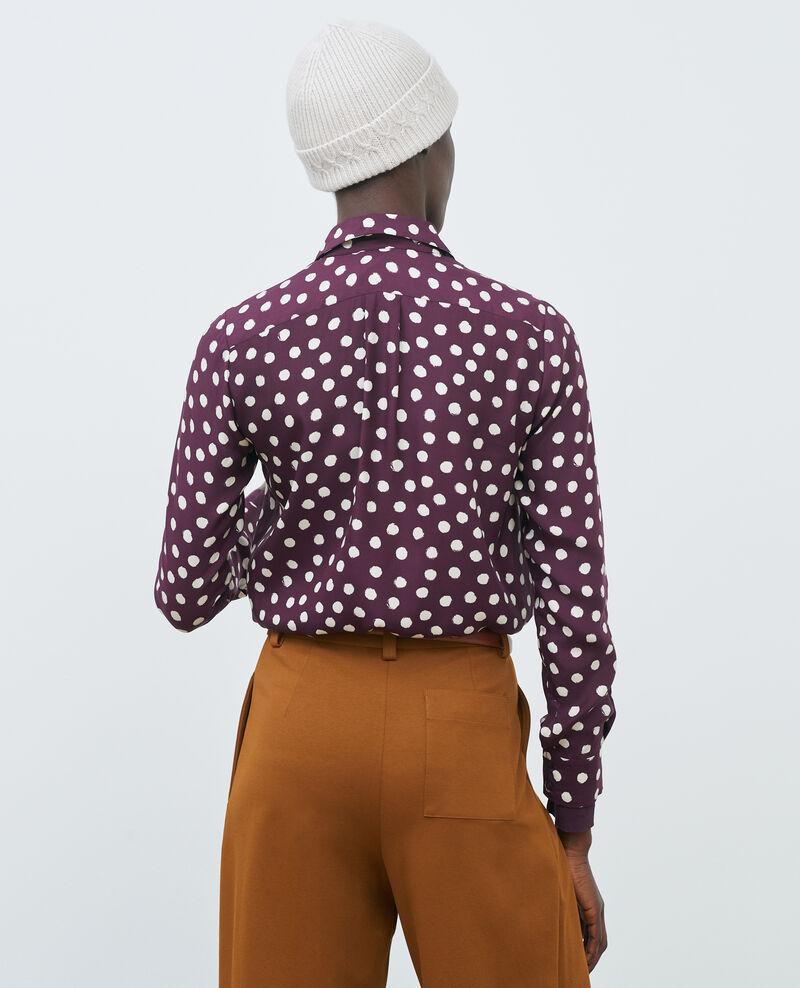 SIBYLLE - Camisa de seda con estampado Maxidot purple Nabilo
