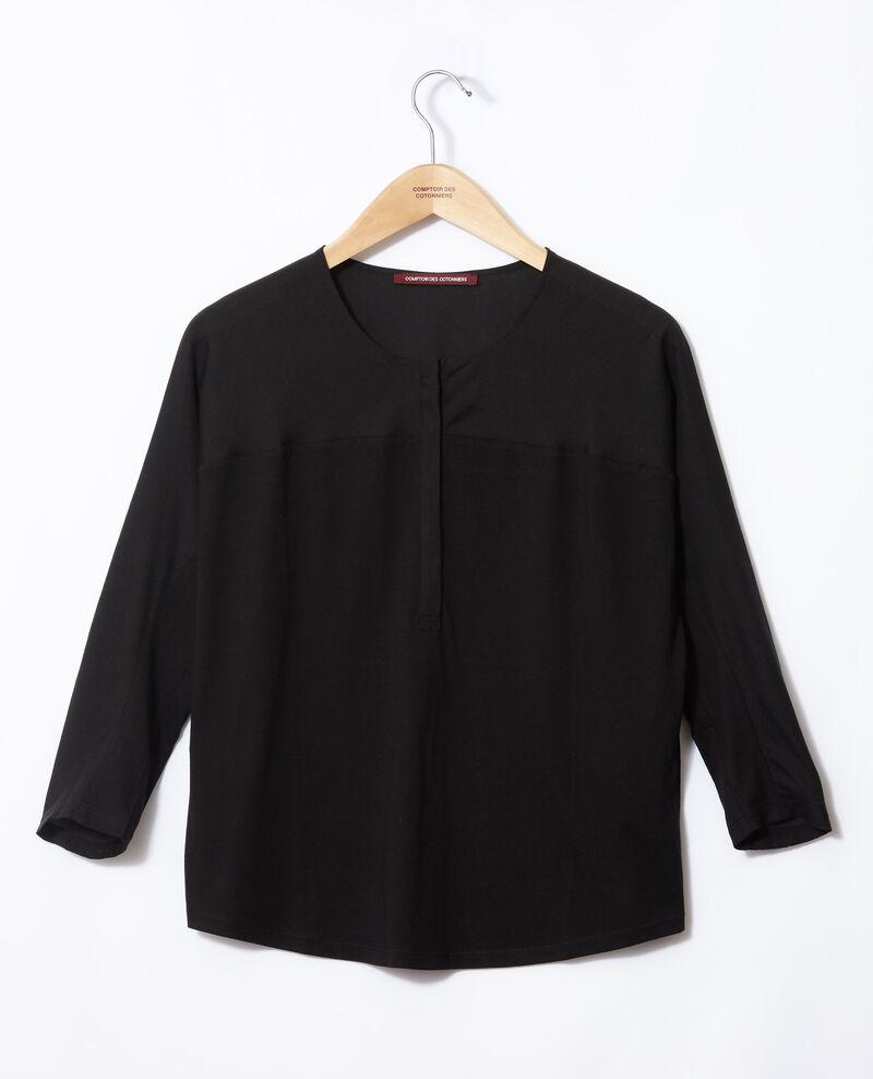 Camiseta de dos tejidos Noir Genious