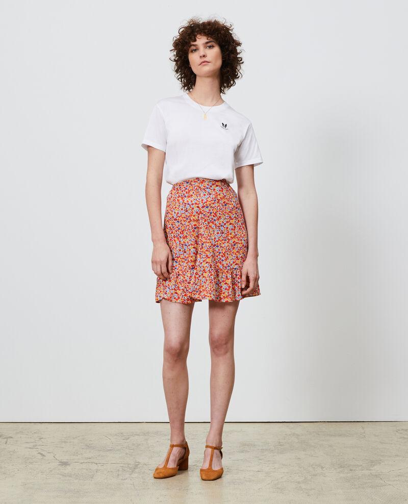 Camiseta bordada de algodón Optical white Nagano