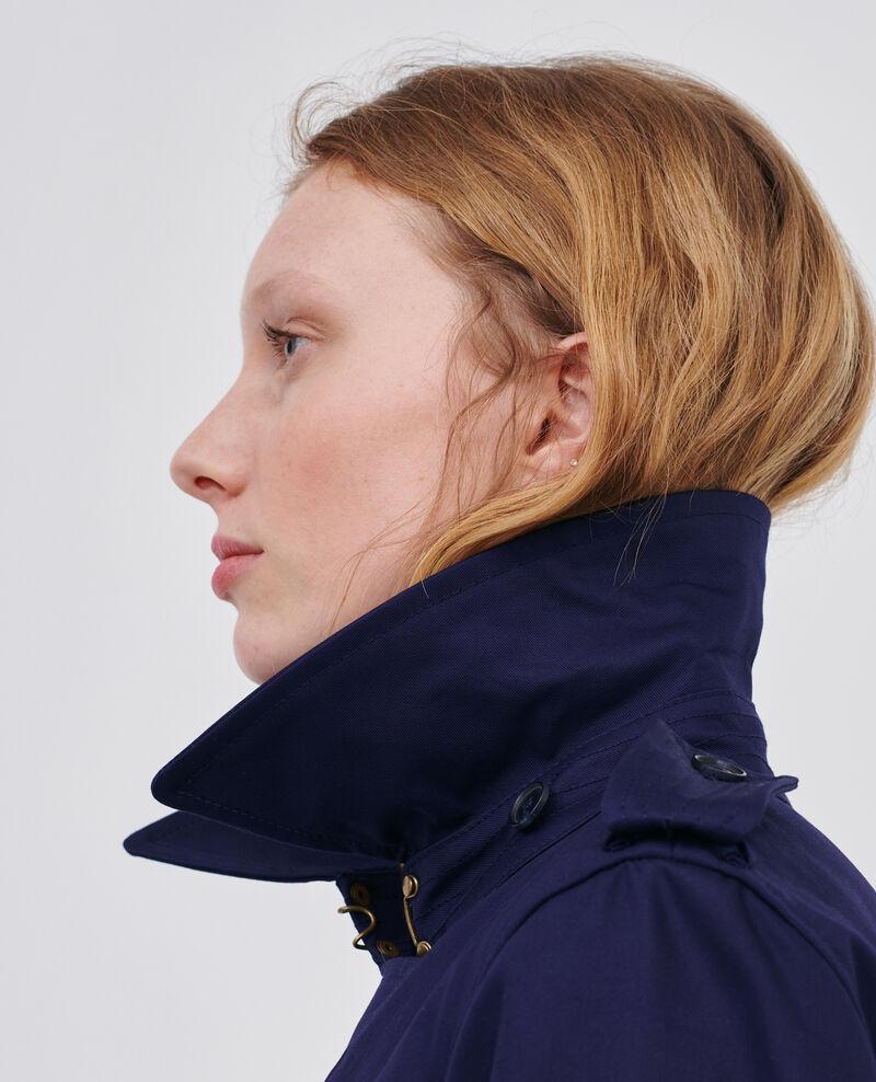 CATHERINE - Trench icónico de algodón Maritime blue Lambert
