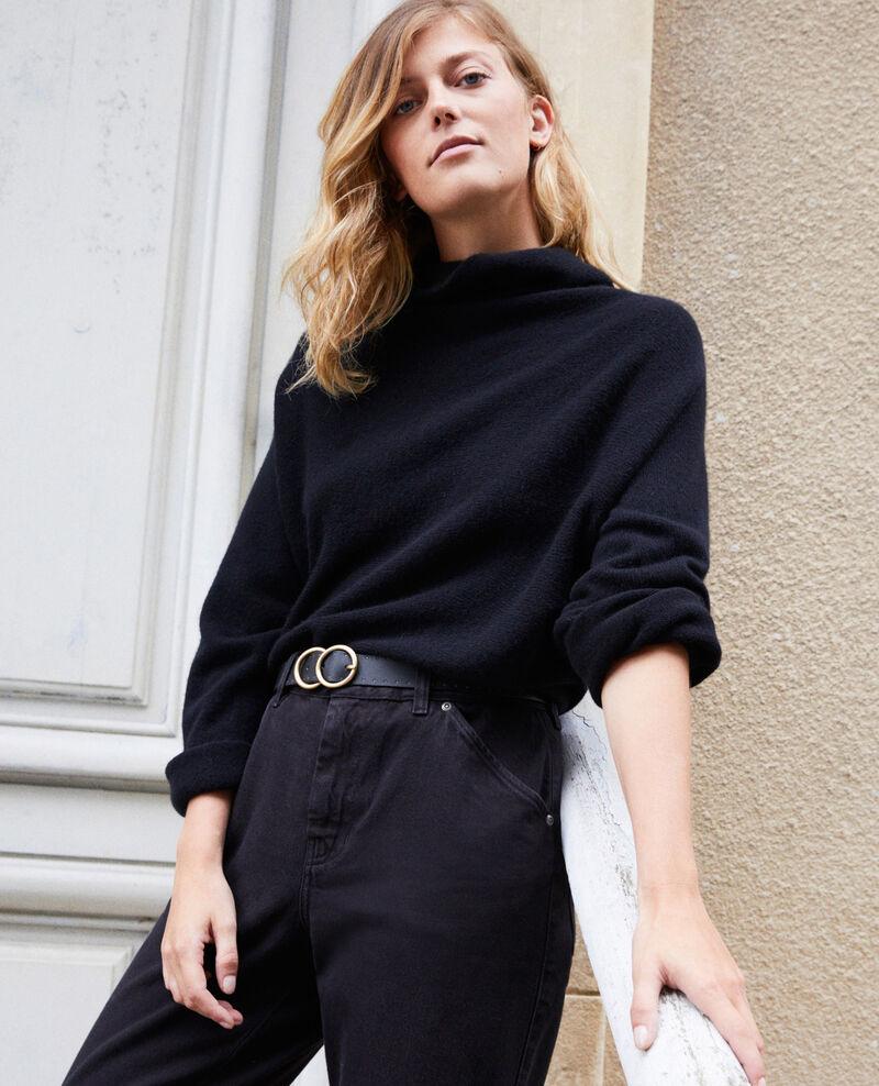 Jersey con cuello subido de cachemir Noir Jinette