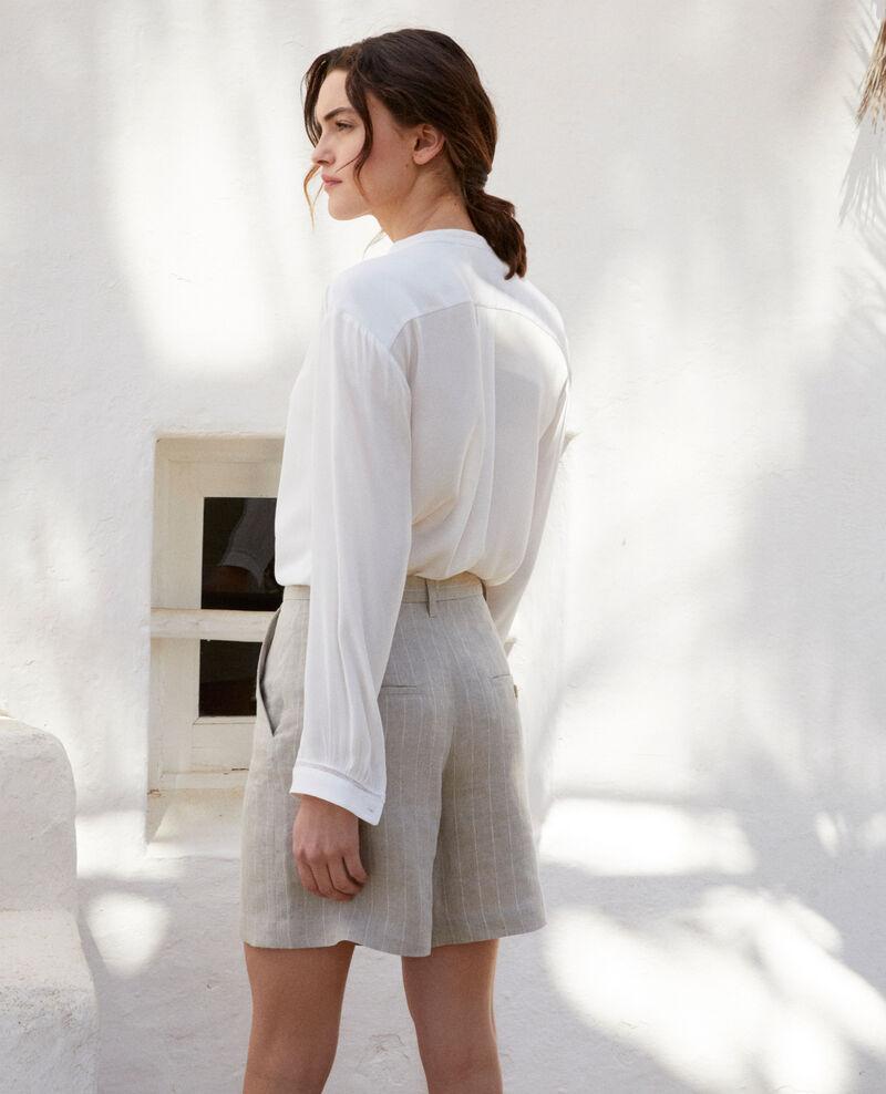 Short de lino Natural linen/off white Icloude