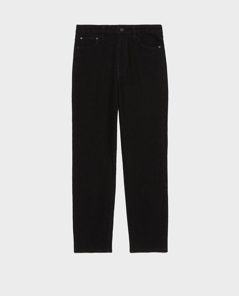 SLIM HIGH RISE - Jeans cropped 5 bolsillos Noir denim Merville