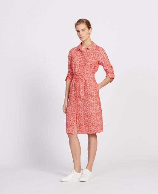 Vestido FEUILLAGE FIERY RED