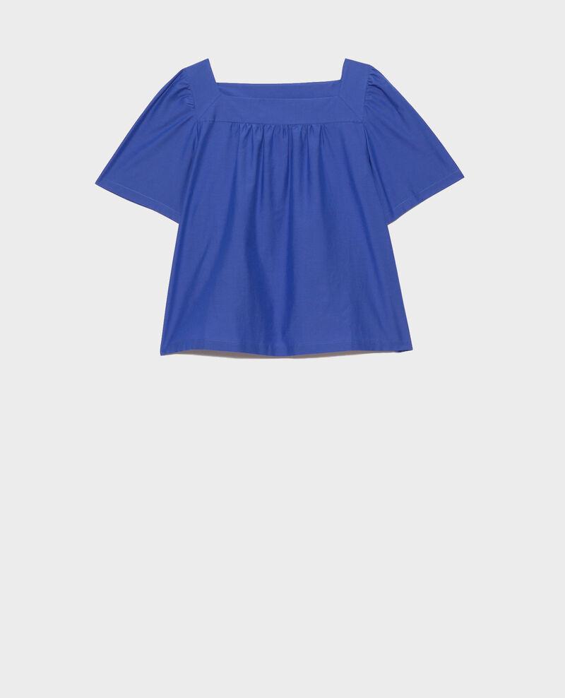 Top de seda y algodón Royal blue Nondo