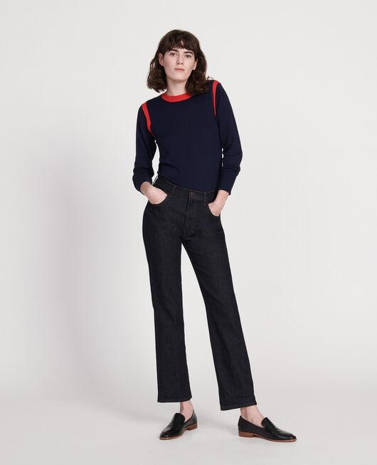 Jeans rectos en denim bruto DENIM RINSE