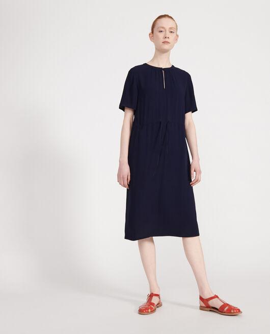 Vestido recto y fluido MARITIME BLUE