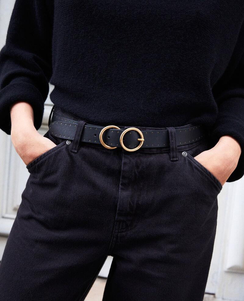 Cinturón de cuero Noir Jastud