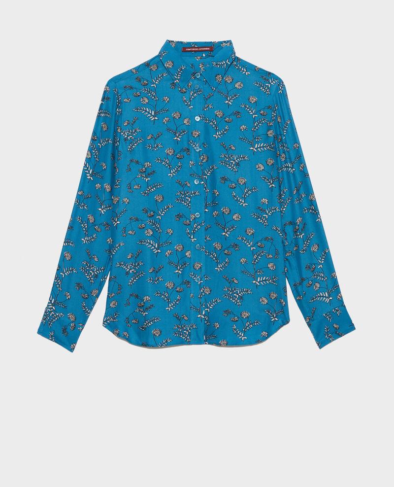 Camisa de seda con estampado Coronille faience Nabilo