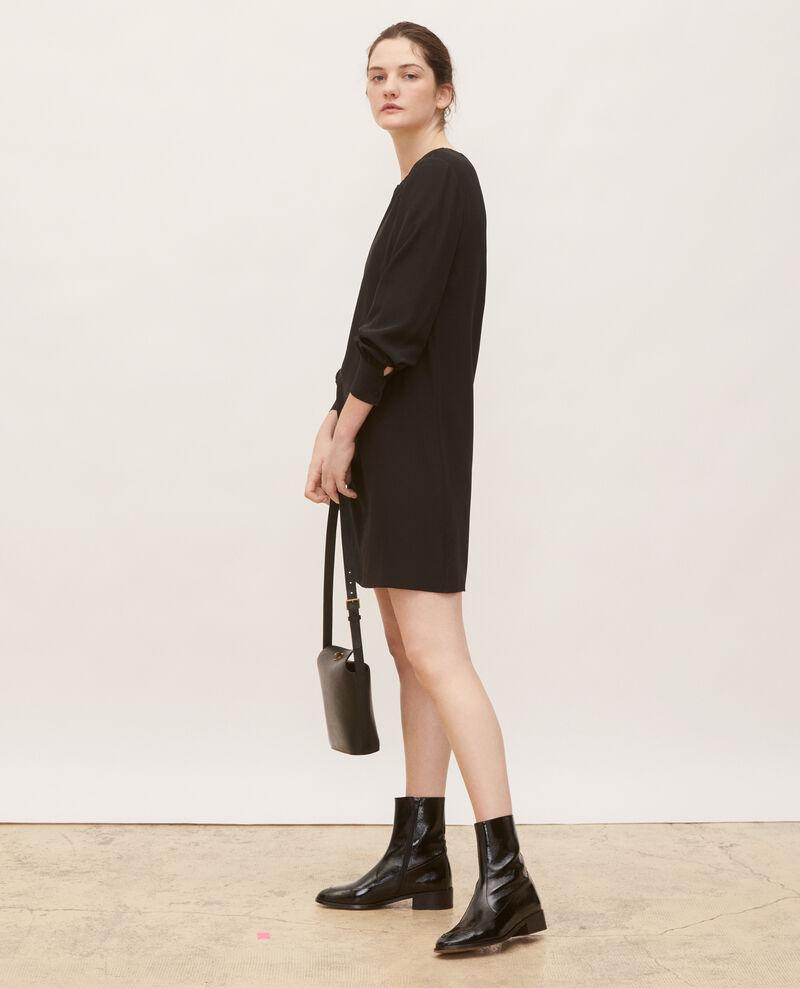 Vestido de seda amplio y corto Black beauty Lamax