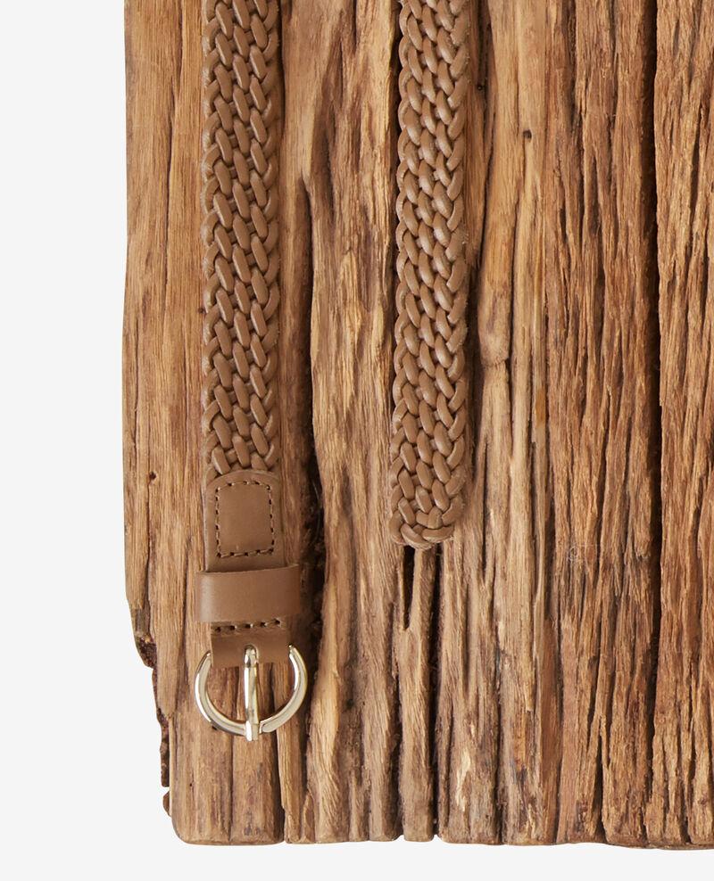 Cinturón trenzado de cuero Light cognac Frise
