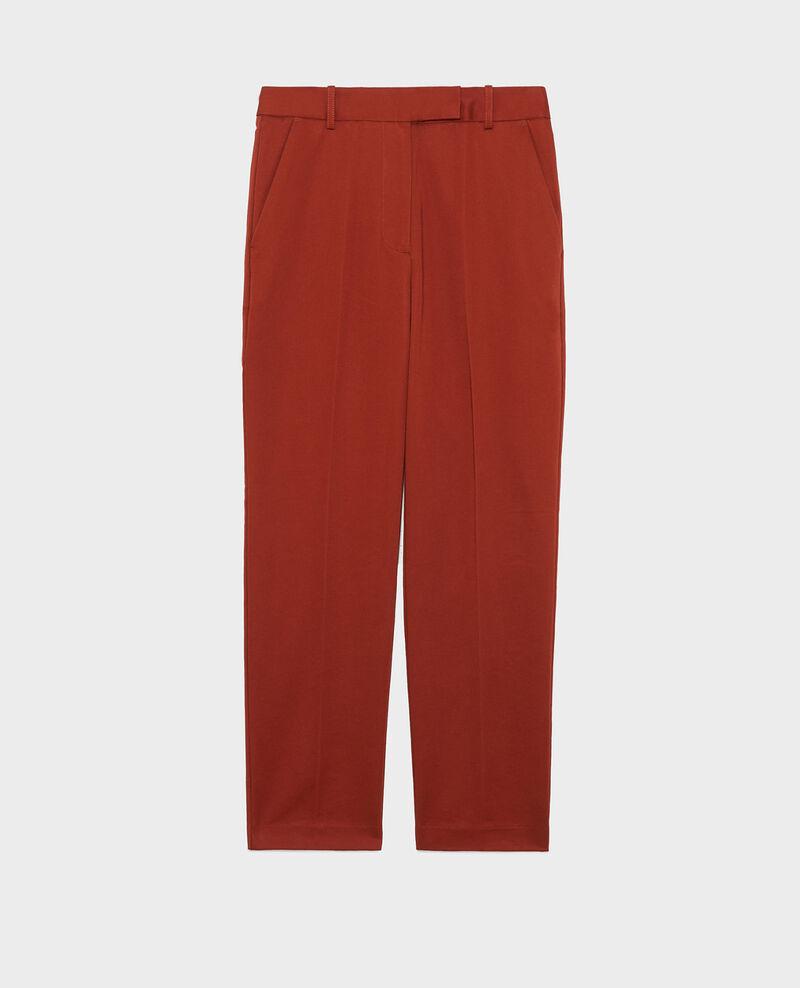 Pantalones chinos MARGUERITE, 7/8 tapered de algodón Brandy brown Mezel