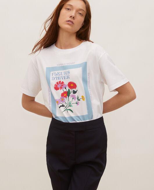 Camiseta amplio de algodón manga corta FORGET ME NOT