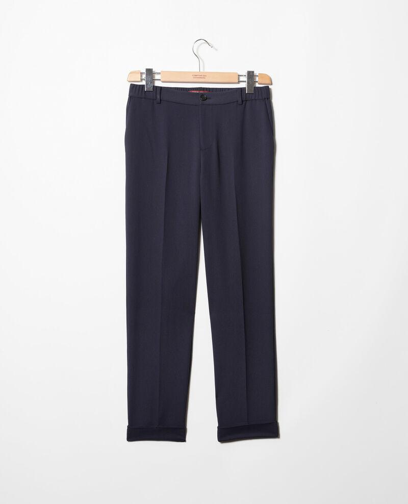 Pantalón corte carrot Navy Iouioui