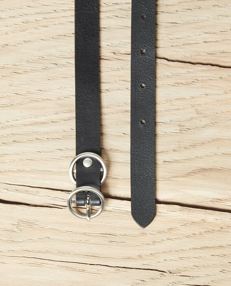 Cinturón de cuero Noir Idoubli