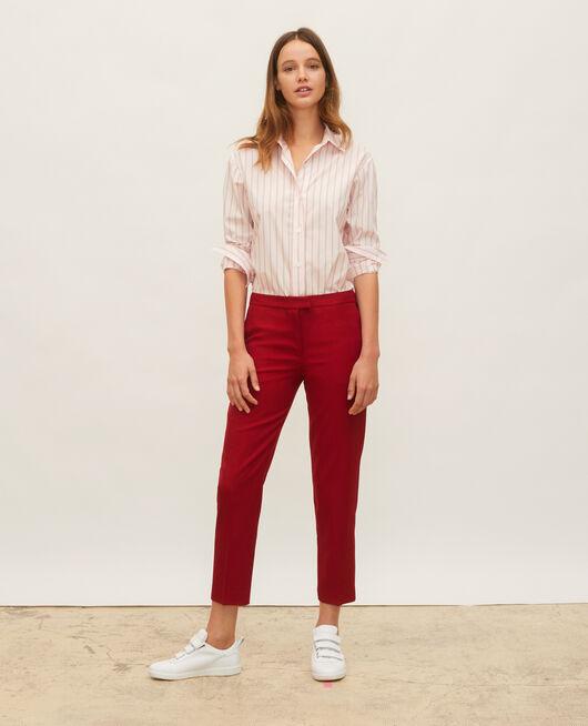 Camisa boyish de algodón POPELINE STRIPE3