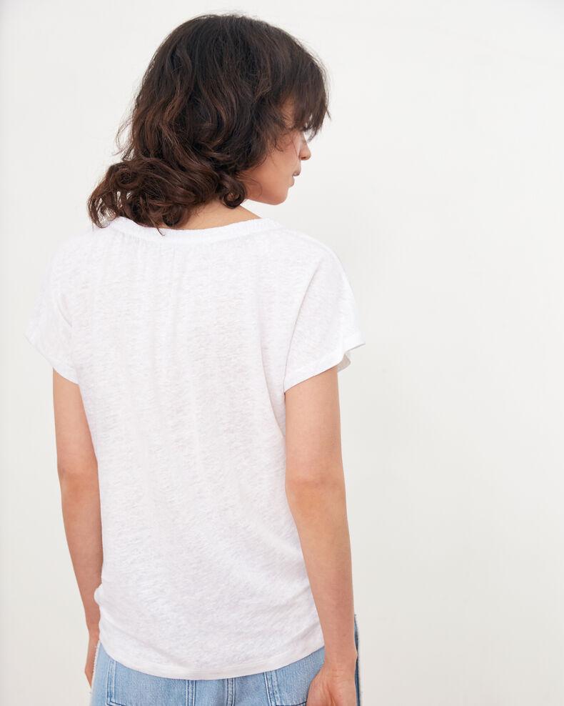 Camiseta de lino Blanc Flabi