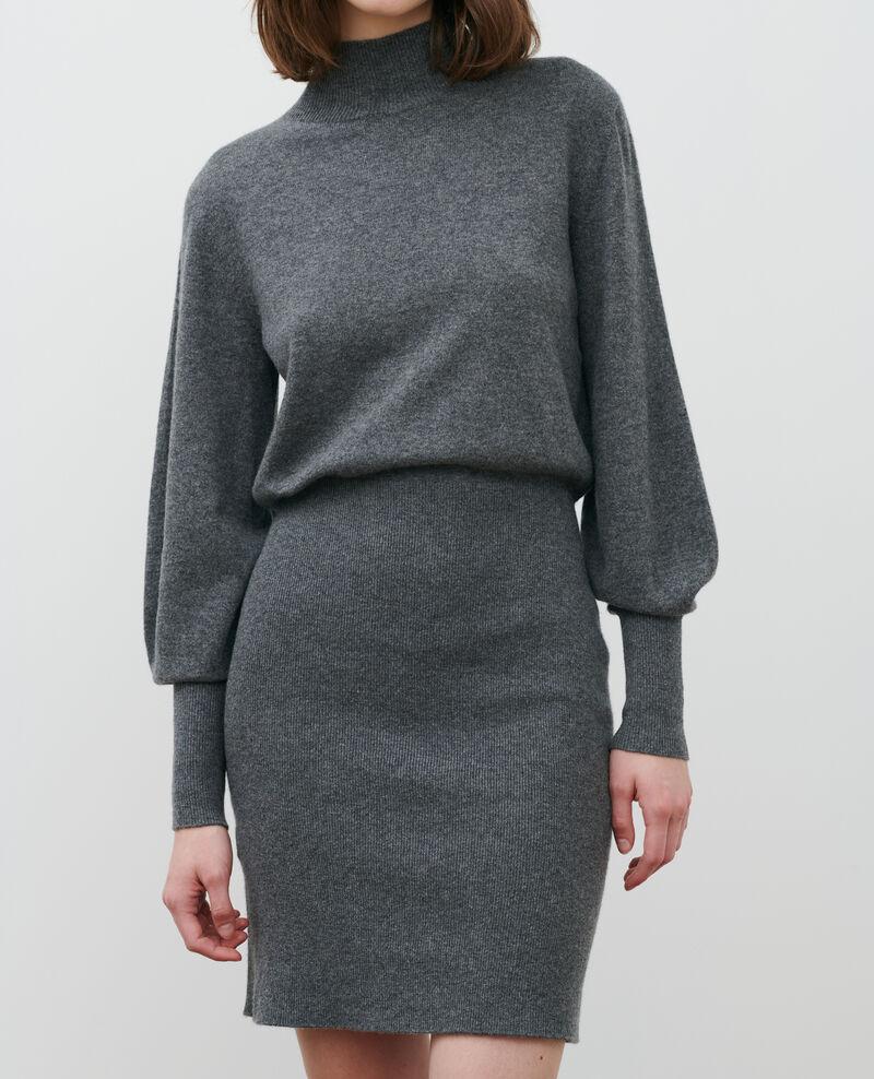 Vestido jersey de cachemir Medium grey melange Manin
