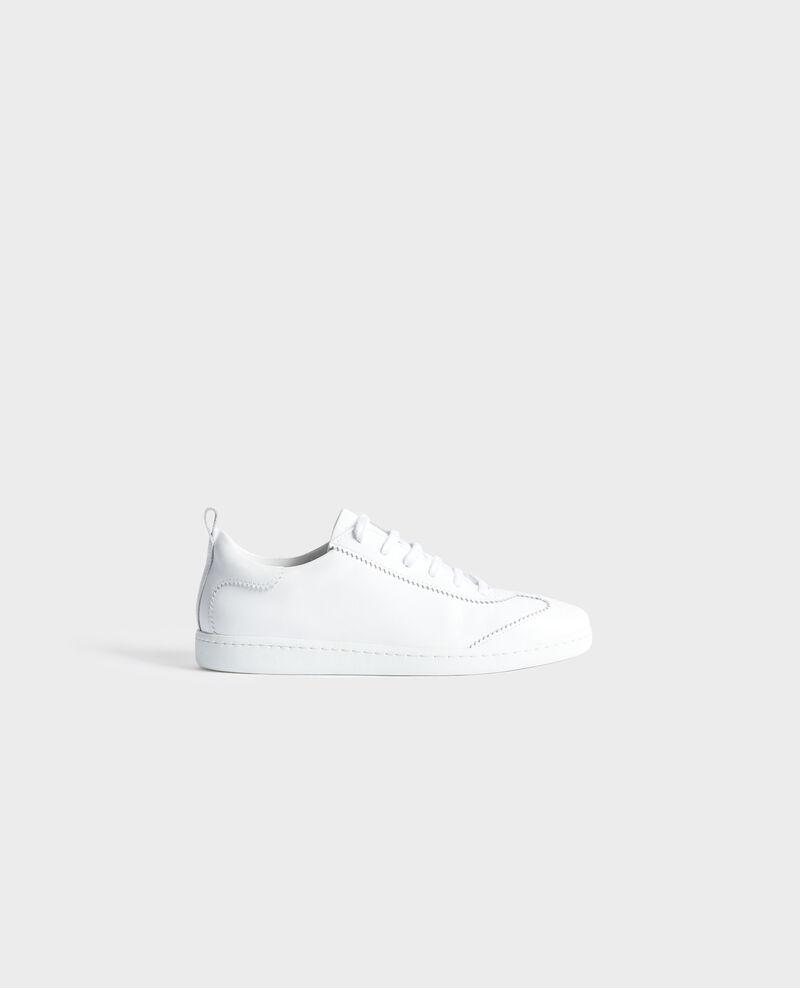 Sneakers de cuero con cordones Brilliant white Nouveau