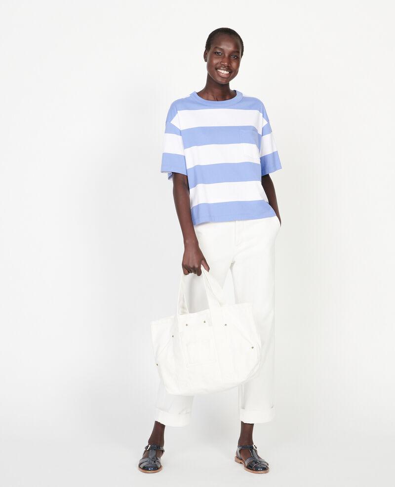Camiseta rayada oversize de algodón mercerizado Str opticalwhite persianjewels Lord
