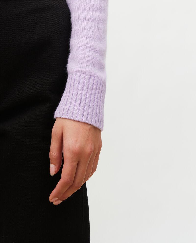 Jersey de cachemir con cuello de pico Pastel lilac Millac
