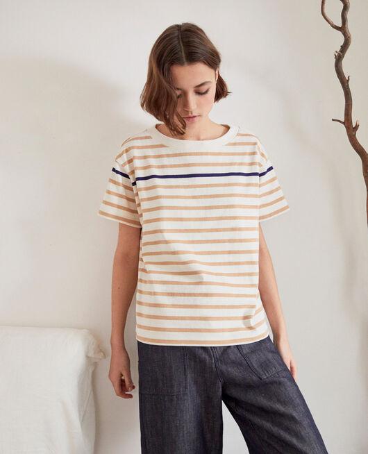 Camiseta de rayas OW/CAMEL/NAVY
