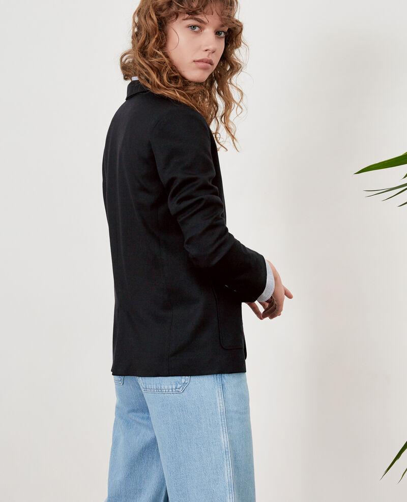 Chaqueta con lana Noir Falcone