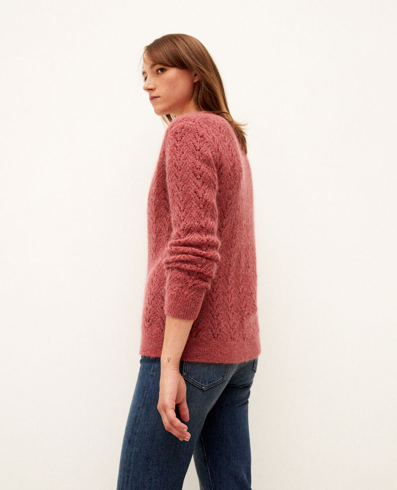Cárdigan con mohair Earth red Grisette