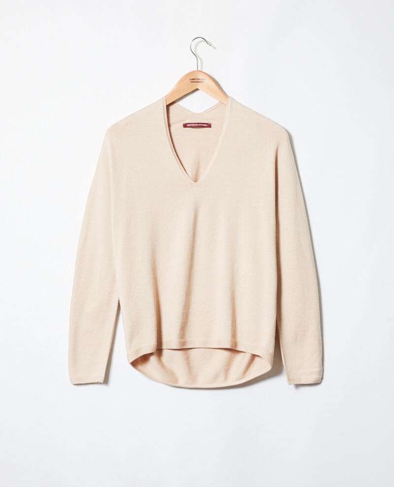 Jersey con cachemir Sand beige Iopy