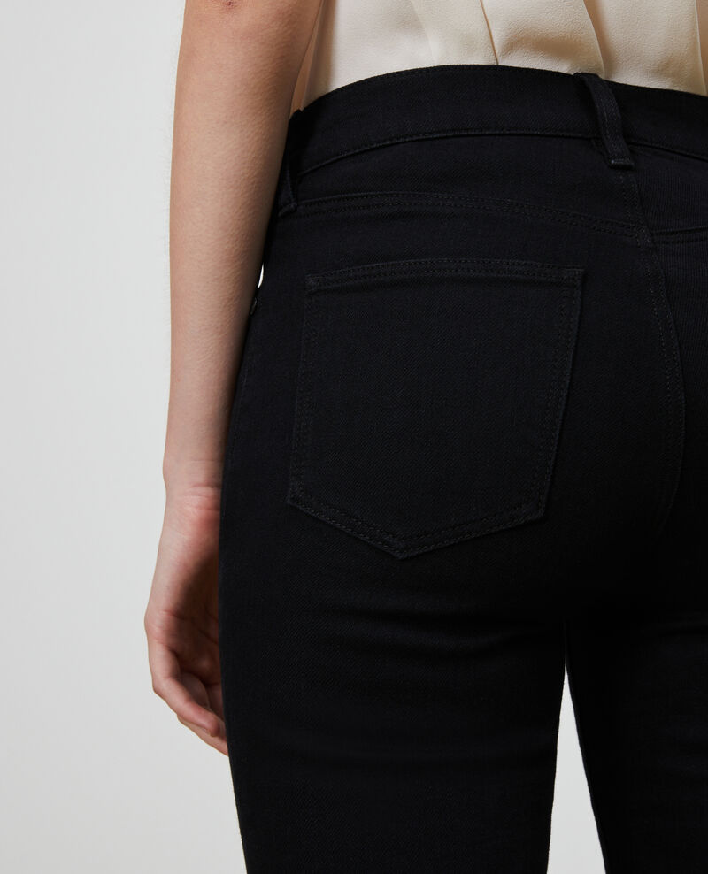 LILI - SLIM - Jeans stretch negros Noir denim Nanblack