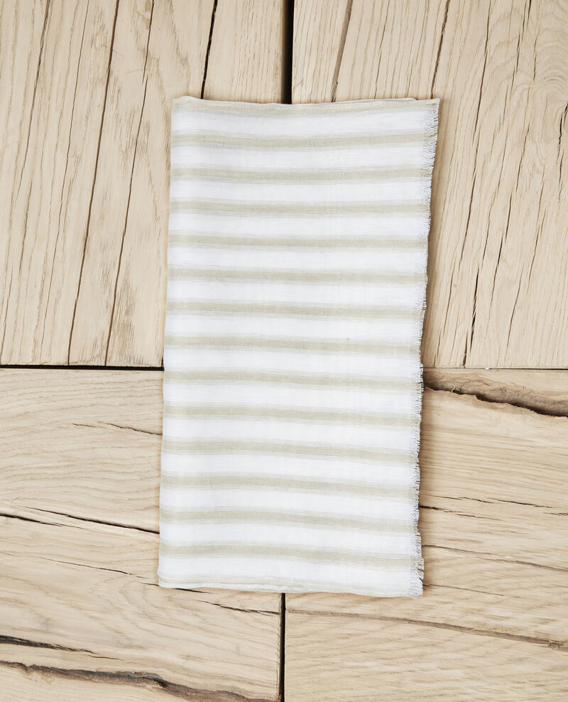 Foulard avec du lin Sand beige/w Iclo