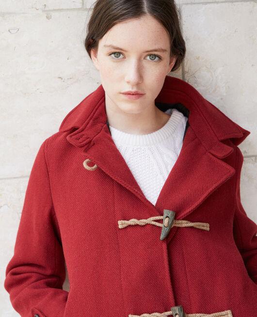Abrigo corto estilo trenca Rojo