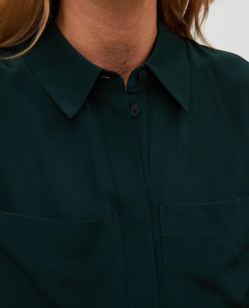 Camisa fluida de seda con manga larga Scarab Misabetha
