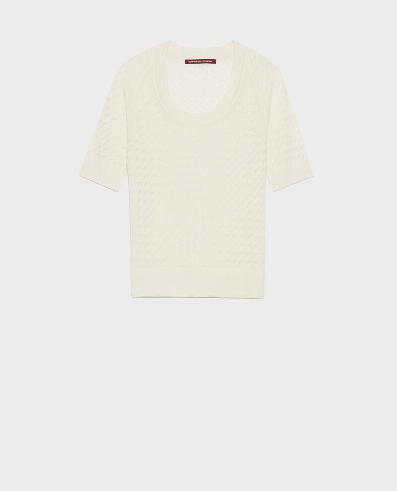 Jersey de manga corta de algodón y lino Gardenia Novileta