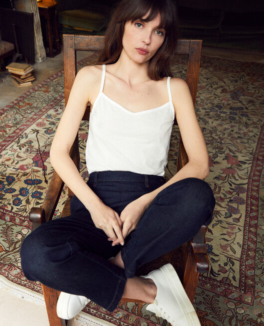 Camiseta con tirantes finos Blanco