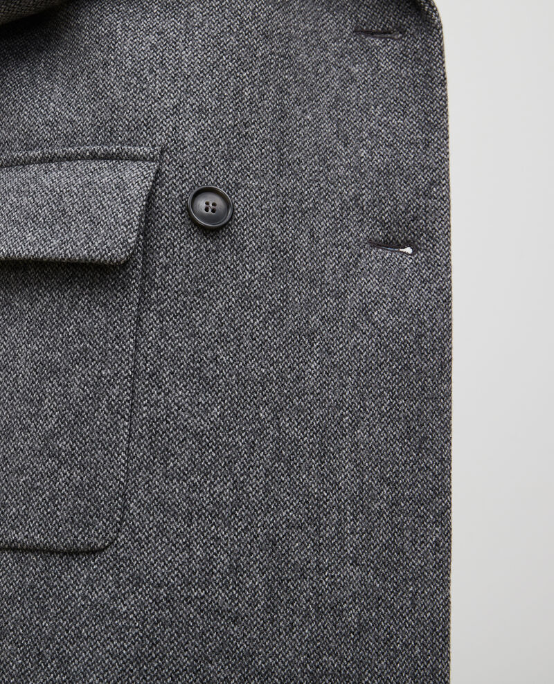 Abrigo cruzado oversize de lana Medium grey melange Massily
