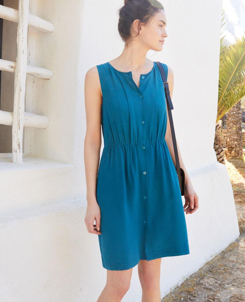 Vestido de seda sin mangas Turquoise Ilena