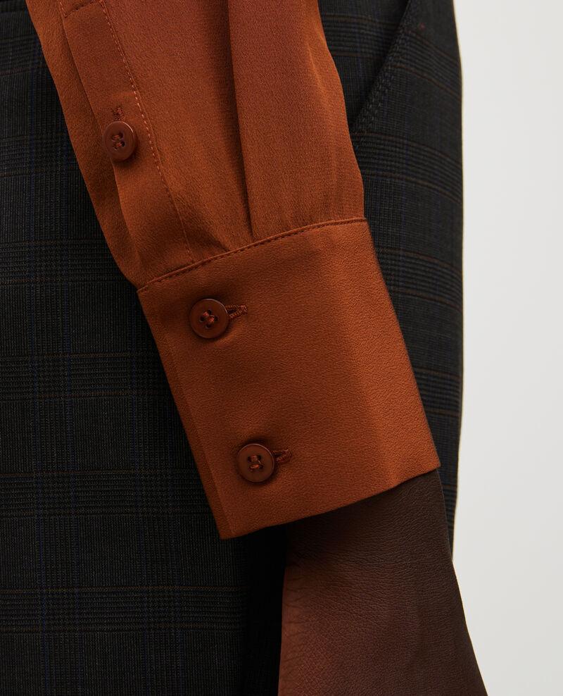 Camisa fluida de seda con manga larga Tortoise shell Misabetha